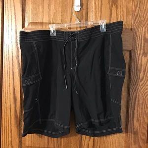 Women's Lands' End Black Swim shorts size 22W